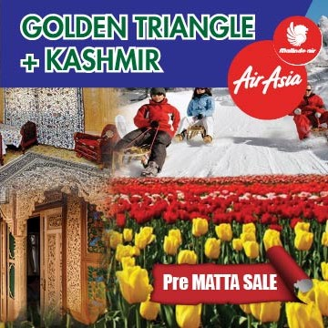 09 DAYS 07 NIGHTS GOLDEN TRIANGLE + KASHMIR