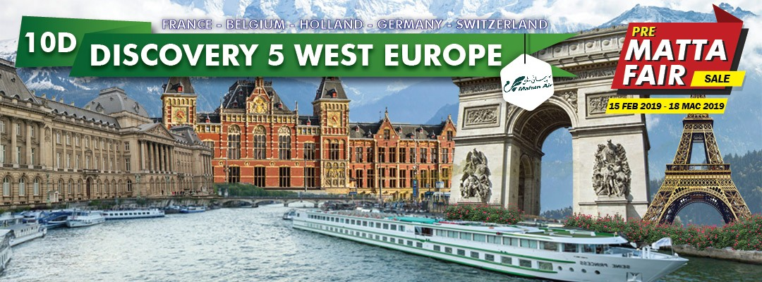 10 DAYS 08 NIGHTS DISCOVER 5 COUNTRIES WEST EUROPE